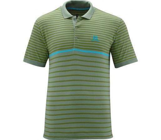 Tricou Salomon Stripe Polo M Green