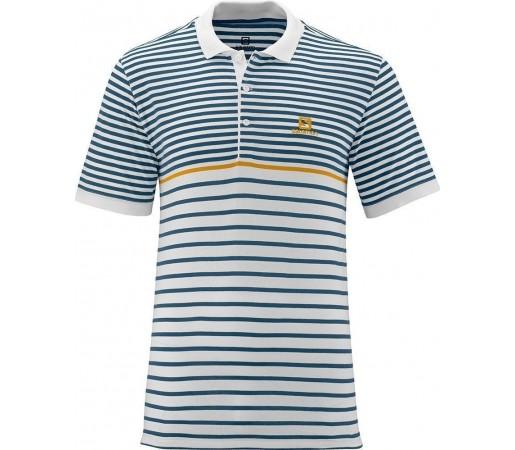 Tricou Salomon Stripe Polo M White
