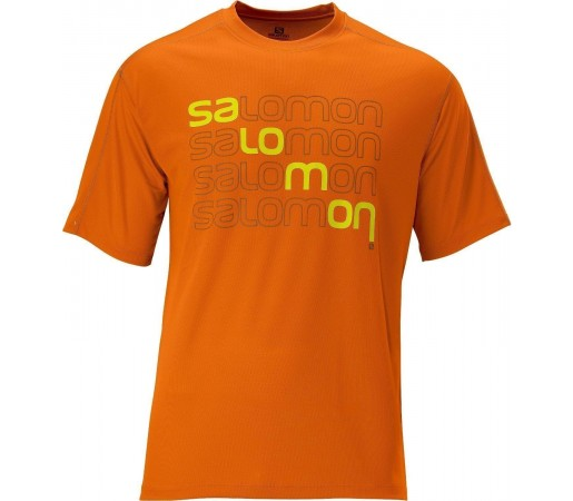 Tricou Salomon Stroll Logo Tee M Orange 2013