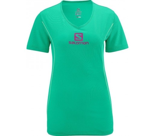 Tricou Salomon Stroll Logo Tee W Green