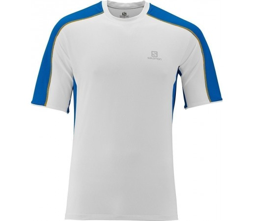 Tricou Salomon Trail Runner Tee M White- Blue
