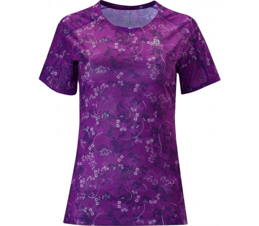 Tricou Salomon Trail Runner Tee W Purple 2013