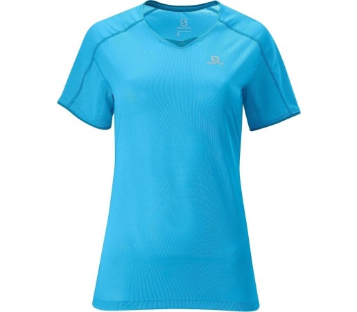 Tricou Salomon Trail Runner Tee W Teal 2013