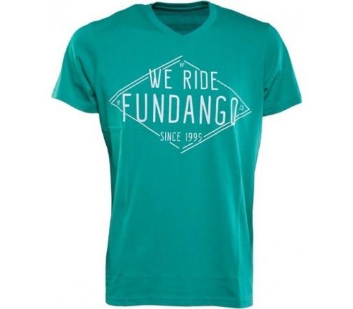 Tricou Fundango V-Neck T Logo 4 Albastru