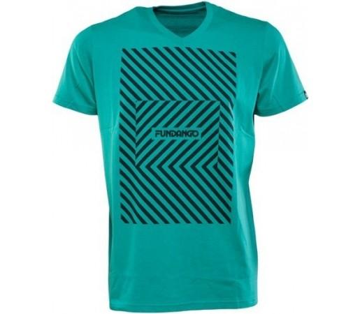 Tricou Fundango V-Neck T Logo 5 Albastru