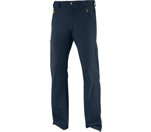 Pantaloni Salomon Wayfarer Pant M Albastru/Galben