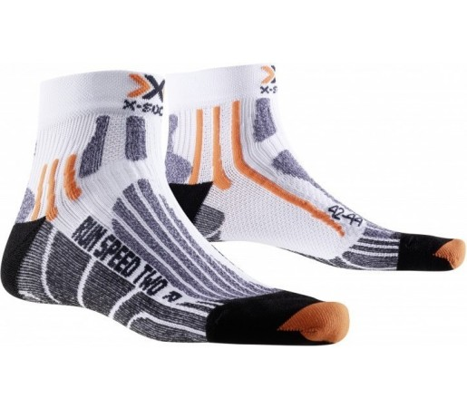 Sosete X-Socks Run Speed Two Short Man White/Orange