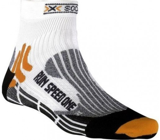Sosete Run Speed One Short White/Orange