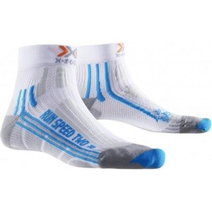 Sosete X-Socks Run Speed Two Short Lady White/Blue