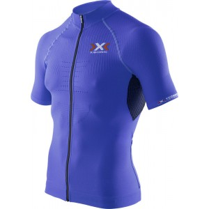 Tricou X-Bionic Biking Man THE TRICK OW SH-SL Full Zip Blue