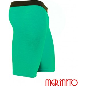 Pantaloni First Layer Merinito Scurti Turquoise