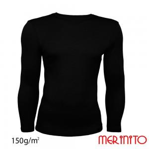 Bluza First Layer Barbati Merinito Neagra
