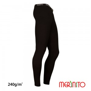 Pantaloni First Layer Barbati Merinito Lungi 240g/mp Negri