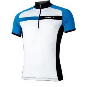 Tricou ciclism Briko Sparkling Man Alb/ Albastru/ Negru