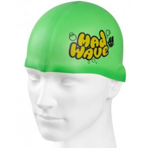 Casca inot Mad Wave Jr. Solid Silicon Verde