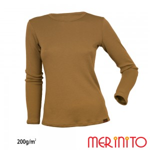 Bluza First Layer Dama Merinito 200g/mp Bej
