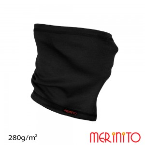 Neck tube Merinito 280g/mp Negru