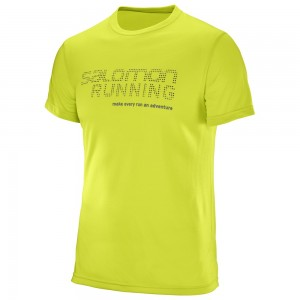 Tricou Salomon Running Graphic M Lime