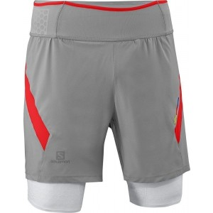 Pantaloni Scurti Compresie Salomon Exo S-Lab TW Short M Grey
