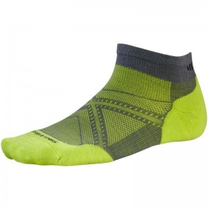 Sosete Alergare Smartwool M Phd Run Light Elite Low Cut Gri/Verde