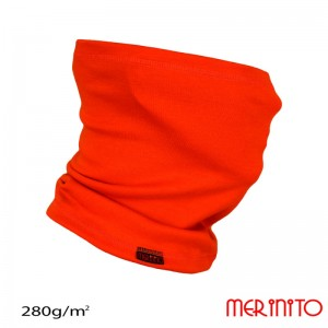 Neck tube Merinito 280g/mp Portocaliu