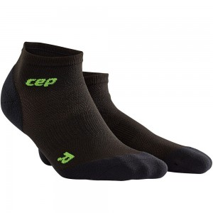 Sosete CEP Dynamic+ Run Ultralight Low-Cut W Negru / Verde