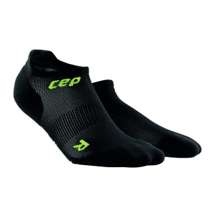 Sosete CEP Dynamic+ Run Ultralight No-Show M Negru / Verde
