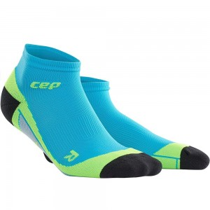 Sosete CEP Dynamic+ Run Low-Cut M Albastru / Verde