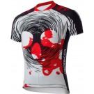Tricou ciclism Briko Bloody Man Alb/ Negru/ Rosu