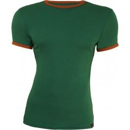 Tricou Merinito Barbat Verde/ Portocaliu