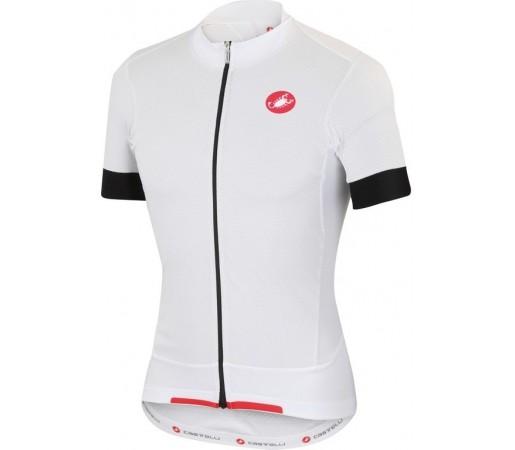 Tricou ciclism Castelli Rivoluzione Jersey Alb/ Rosu