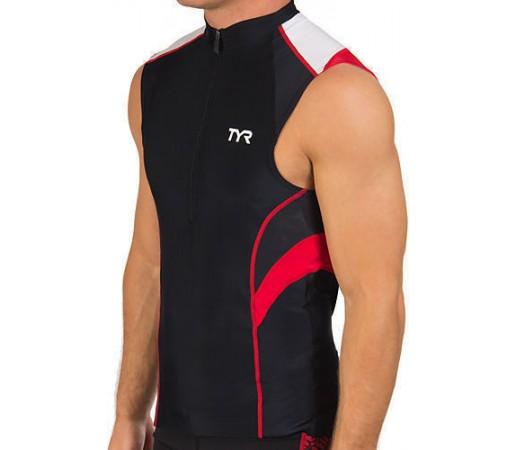 Maieu Tyr Competitor M Sleeveless Cycling Jersey negru/rosu 2013