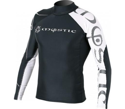 Bluza cu protectie UV Mystic Crossfire Rashvest LS Neagra