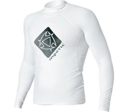 Bluza cu protectie UV Mystic Star Rashvest LS Alba