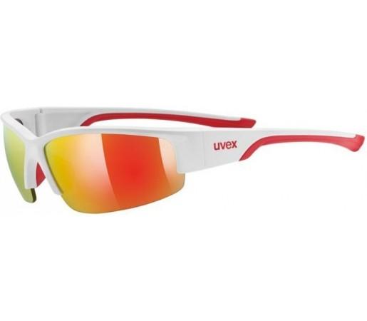 Ochelari de soare Uvex Sportstyle 215 Alb/Rosu