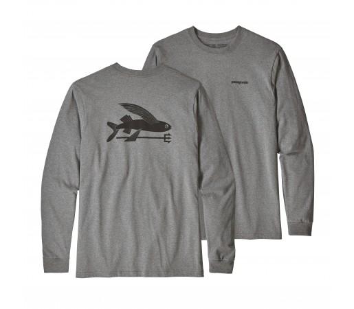 Bluza Barbati Patagonia Flying Fish Responsibili-Tee Gri