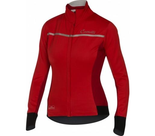 Bluza Ciclism Castelli Trasparente 3 FZ W Rosu