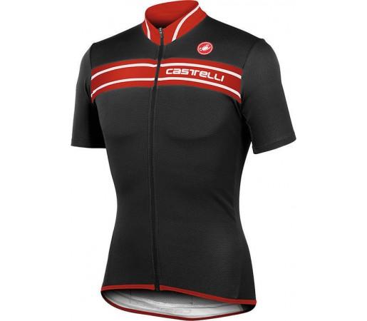 Tricou ciclism Castelli Prologo 3 Negru/Rosu