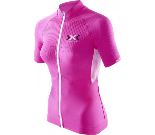 Tricou X-Bionic Biking Lady THE TRICK OW SH-SL Full Zip Pink