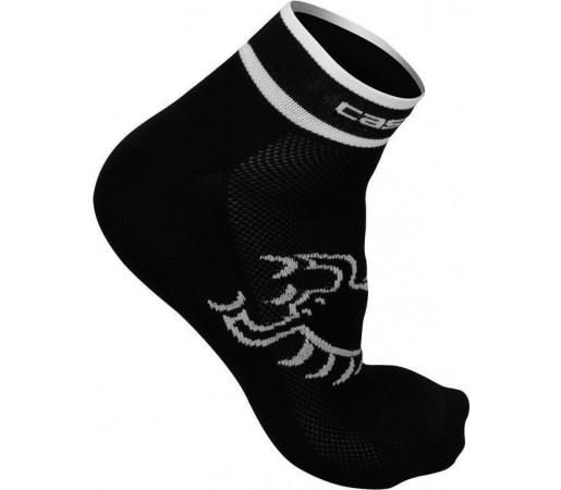 Sosete ciclism Castelli Logo 3 Negru/Alb