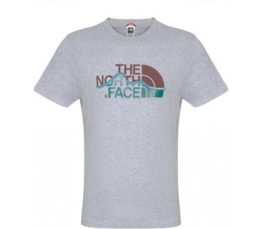 Tricou The North Face M S/S Mountain Line Alb