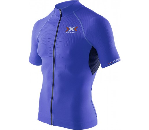 Tricou X-Bionic Biking Man THE TRICK OW SH-SL Full Zip Blue