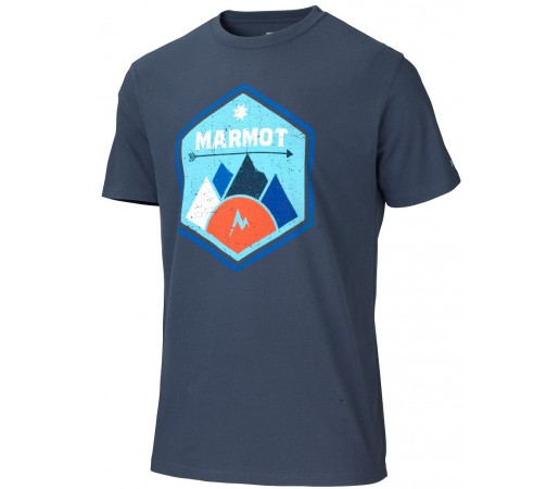 Tricou Marmot M Badge Bleumarin
