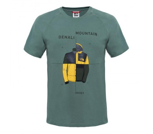 Tricou The North Face M SS Mountain X Denali Verde