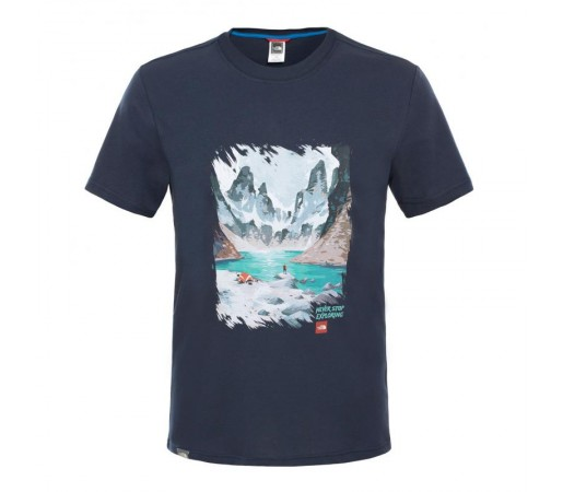 Tricou The North Face M S/S Never Stop Exploring Series Bleumarin
