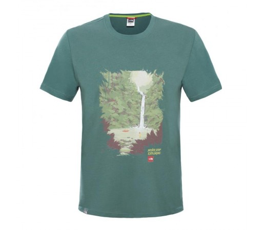 Tricou The North Face M S/S Never Stop Exploring Series Verde