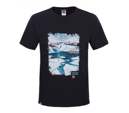Tricou The North Face M S/S Never Stop Exploring Series Negru