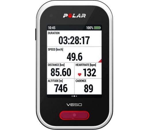 Ciclocomputer Polar V650 cu GPS si centura HRM Negru