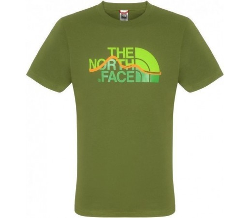 Tricou The North Face Mountain Line S/S W Scallion Green