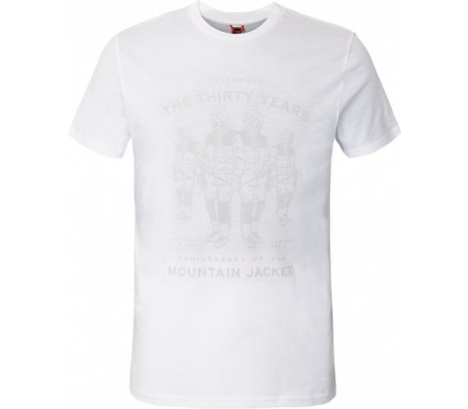 Tricou The North Face M S/S Mountain Celebration Alb